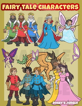 Fairy tale characters clip art set