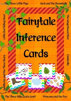 Fairy tale scavenger hunt inference cards