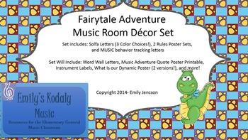 Fairytale Dragon Themed Music Classroom Decor