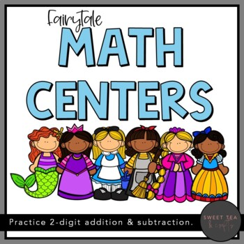 Fairytale Math Centers - Addition and Subtraction with Two