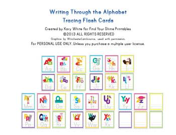 Alphabet Flash Cards, Tracing