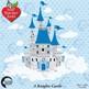 Fairytale castle clipart, Princess clipart,vector graphics