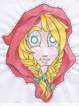 Fairytale masks - Little red riding hood color and black l