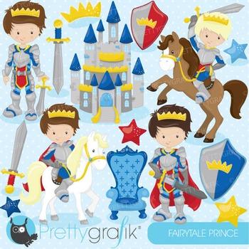 Fairytale prince clipart commercial use, vector, digital - CL771