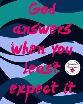 Faith Poster: God Answers