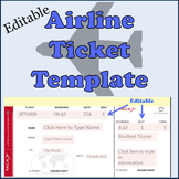 Airline plane Tickets Template