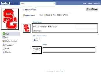 Fake Facebook Core Values Lesson