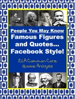 Facebook Famous Figure (and character-building) Quote Analysis