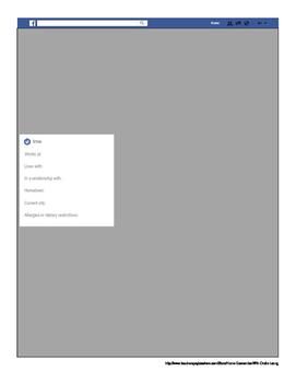 Fakebook Profile Worksheet