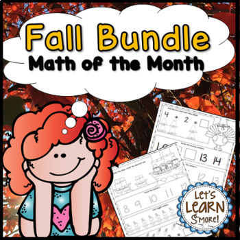 Fall, Math Worksheet Bundle, Fall Themed Daily Math, Fall