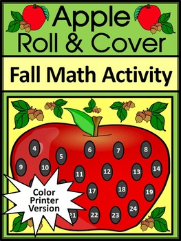 Fall Activities: Apple Roll & Cover Activity Packet