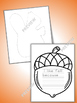 Fall Acorn Writing Templates 6 formats with BONUS Squirrel