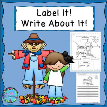 Fall Writing with Labels!  ELL Activities for Newcomers!