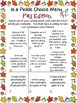 Fall Writing Activities Choice Boards, Vocabulary Game, an