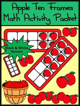 Fall Math Activities: Fall Ten Frames: Apple Ten Frames