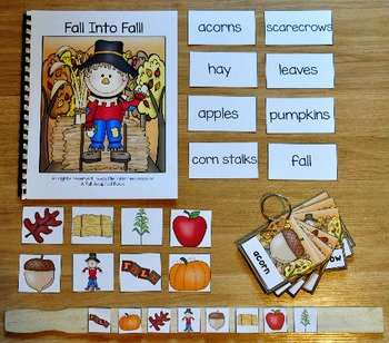 """Fall Adapted Book And Vocabulary Activities --""""Fall Into Fall"""""""