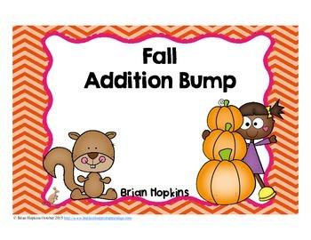 Fall Addition Bump Fluency Games