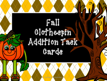 Fall Addition Task Cards