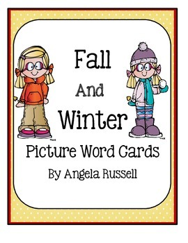 Fall And Winter Picture Word Cards