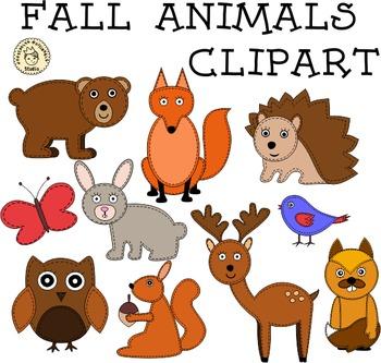Fall Animals Clipart