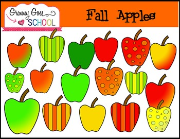 Fall Apples: Free Clip Art