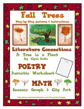 Language Arts Poetry & Math Graphing with Fall Art - Draw