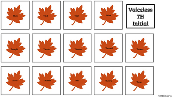 Fall Articulation Cards
