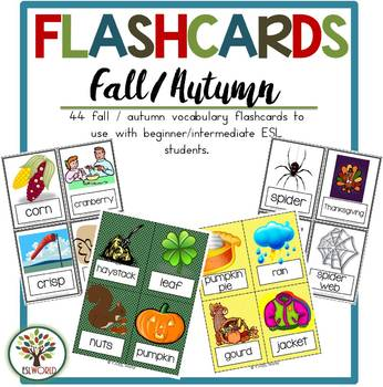 Fall / Autumn {44 Flashcards & Games} ESL Adults & Grades 4-6