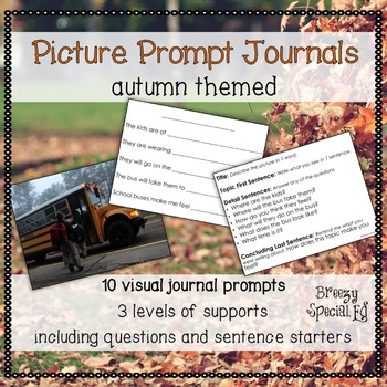Fall / Autumn / Back to School Picture Journal Prompts {Le