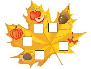 Fall Autumn Beginning Sounds preschool educational game.