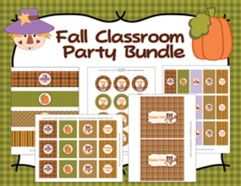 Fall Autumn Classroom Party Bundle