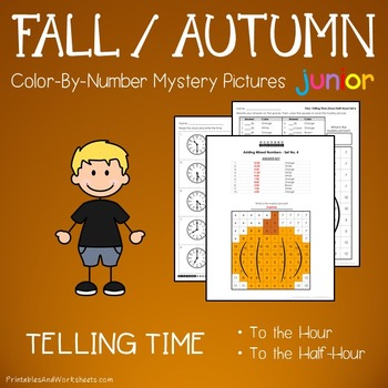 Fall Color by Number: Telling Time the Hour / Telling Time
