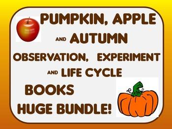 Fall Autumn Leaf, Pumpkin & Apple Observation, Experiment