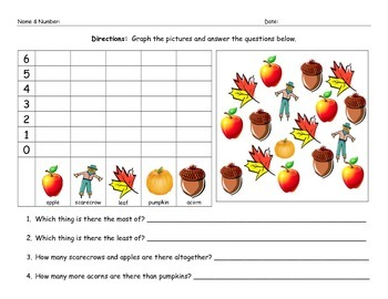 Fall / Autumn Math Graphing Worksheet