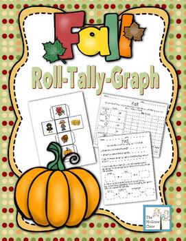 Fall Autumn Roll Tally Graph Math Activity Center Set