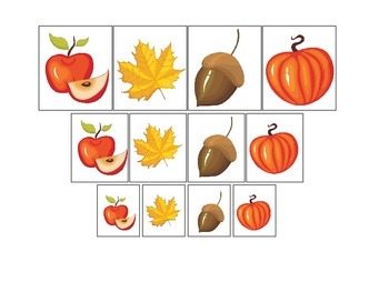 Fall Autumn Size Sorting preschool educational game.  Chil