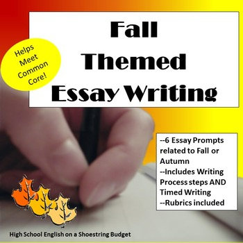 Fall (Autumn) Themed Essay Writing, w Rubrics & Printables