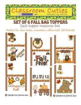 Fall Bag Toppers Set