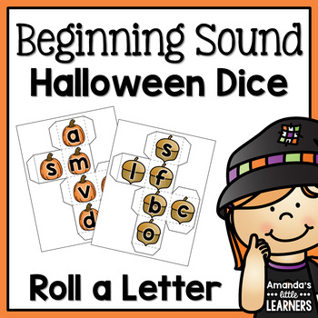 Fall Beginning Sound Dice