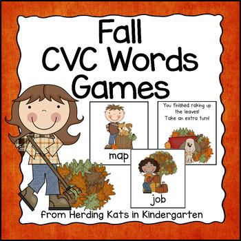 Fall CVC Word Games Bundle