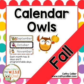 Fall Calendar Owls