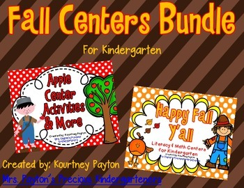 Fall Centers Bundle for Kindergarten (Fall, Apples)