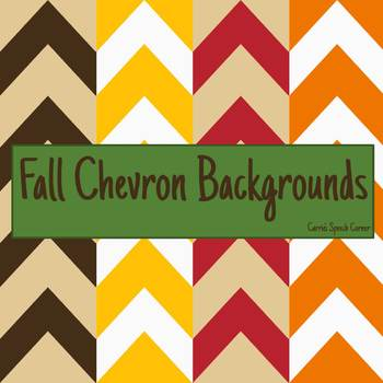 Fall Chevron Backgrounds {Free}