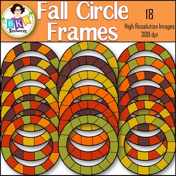 Fall Clipart ● Circle Frames ● Graphics ● Products for TpT