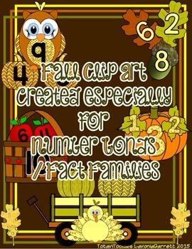 Fall Clip Art Number Bonds Fact Families Packet
