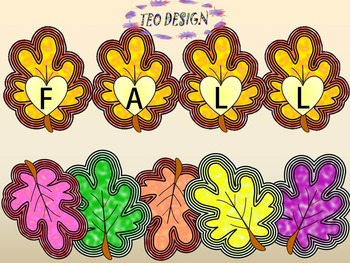 Fall- Crafts - Autumn leaves - Numbers - Clip Art - Person