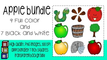 Fall Clipart: Apple Bundle