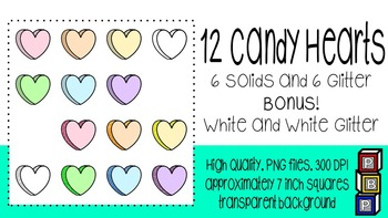 Clipart: Candy Hearts
