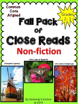 Close Read Pack: Fall Theme