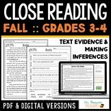 Close Reading - October, November, December